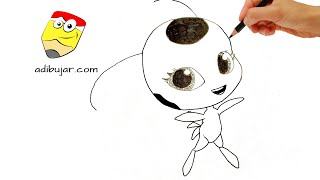 Download Ladybug: Cómo dibujar a Tikki (kwami) a lápiz fácil paso a paso | How to draw Tikki Video