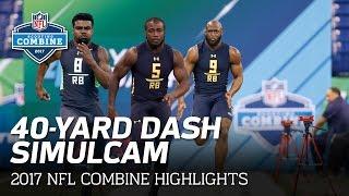 Download 40-Yard Dash SimulCam Highlights: Ezekiel Elliott vs. Fournette vs. Cook & More | NFL Video