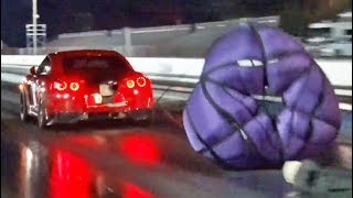 Download We found the Fastest GTR in the WORLD! (wItH a PaRacHuTe) Video