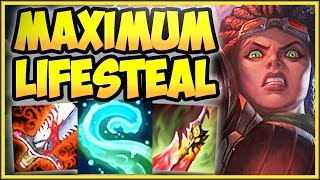 Download WTF! ONE TENTACLE SLAM = FULL HP HEAL?? MAX LIFESTEAL ILLAOI TOP CHALLENGE! - League of Legends Video
