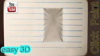 Download Иллюзия 3D коридор Простой рисунок. #3Dрисунок #простое3D Video