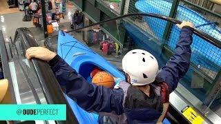 Download Kayaking Down an Escalator Video