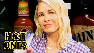 Download Chelsea Handler Goes Off the Rails While Eating Spicy Wings   Hot Ones Video