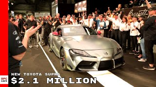 Download First 2020 Toyota Supra Sold For $2.1 Million at Barrett Jackson Video