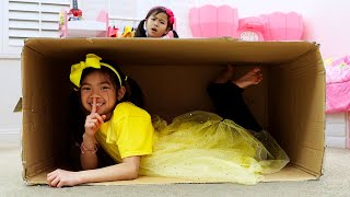 Download Emma and Jannie Pretend Play Hide and Seek | Learn To Help Others Kids Story Video