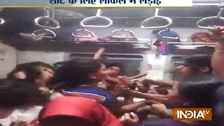 Download Mumbai Local Train Ladies Fight - India TV Video