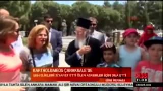 Download 23 Nisan 2015 Fener Rum Patriği Bartholomeos Çanakkale Şehitliklerini ziyaret etti Video
