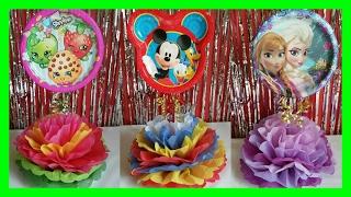 Download Centro de Mesas para fiesta de niños / Shopkins, Mickey Mouse, and Frozen DIY Party Centerpieces Video