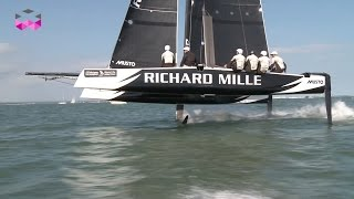 Download Richard Mille and a flying GC32 catamaran for the Around the island race Video