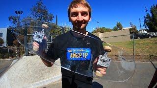 Download BULLET PROOF GLASS SKATEBOARD!   YOU MAKE IT WE SKATE IT EP 39 Video