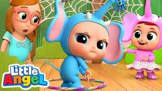 Download 10 Little Elephants | Elephant Song | Nursery Rhyme & Kids Songs Little Angel Video