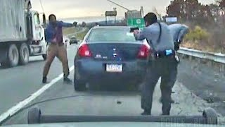 Download Dashcam Shows Intense Shootout Between Troopers And Suspect Video