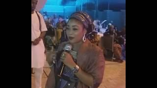 Download Kalli Hafsat Shehu Nayin Addu'a A Wajen Bikin Sadiya Adam Video