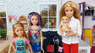 Download Barbie Doll and Baby Morning Routine in a Barbie House. Barbie Video for Kids. Video