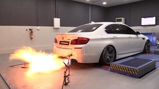 Download 785HP BMW M5 F10 Akrapovic PP Performance - Dyno Run + INSANE FLAMES! Video