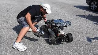 Download 1/5th scale jet turbine engine car Nitrostreets Video