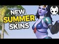 Download Overwatch ALL NEW SUMMER SKINS + EMOTES, VOICELINES & more! Video