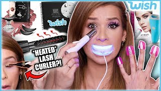 Download Testing WEIRD af *WISH* GADGETS! (Lip Plumping Vacuum, Eye Massager, & MORE!) Video