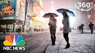 Download 2017 Nor'easter Winter Storm Stella Envelops New York's Times Square | 360 Video | NBC News Video
