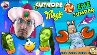 Download Let's CUT THE ROPE w/ MAGIC and JUMP w/ our EYES! Shawn's First Gameplay (FGTEEV Parents & Kids Fun) Video