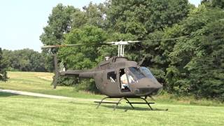 Download 1971 Bell OH-58C startup and take off Video