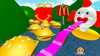 Download Giant Happy Meal & Burgers ! Roblox McDonalds Obby - Fast Food Restaurant Online Game Video Video