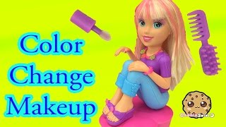 Download Color Change Hair, Nails and Makeup with Polly Pocket Makeover Doll - Cookieswirlc Video Video