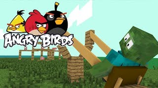 Download Monster School: ANGRY BIRDS - Minecraft Animation Video