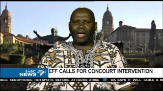 Download EFF's application for parly to impeach or discipline Zuma: Somadoda Fikeni Video