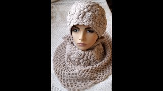 Download Красивые вязаные шапочки с вышивкой. Beautiful knitted hats with embroidery Video