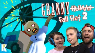 Download GRANNY Fall Flat 2! (Destroying NEW Human Fall Flat Level STEAM!) KIDCITY GAMING Video