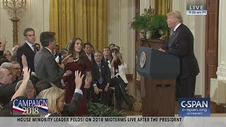 Download Exchange between President Trump and CNN's Jim Acosta (C-SPAN) Video