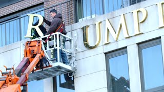 Download Trump signs removed from some NYC buildings Video