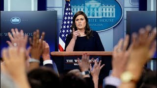 Download Sarah Sanders threatens to end briefing amid transgender ban questions Video
