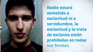 Download Maverick K Chávez Melendez, Peru, reading article 4 of the Universal Declaration of Human Rights Video