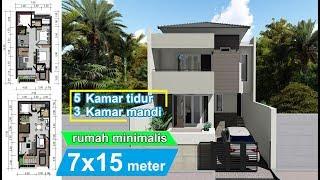 Download Design Rumah minimalis 7 x 15 meter Video