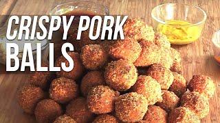 Download Crispy Pulled Pork Meatballs recipe Video