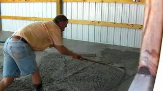 Download Bat Shop Concrete Floor Pour - Time Lapse Video
