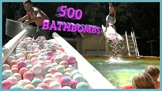 Download 500 BATH BOMBS IN SWIMMING POOL‼️ Video