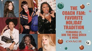 Download The Coach Fam: Favorite Holiday Tradition | Fernanda Ly, Bob The Drag Queen & More Video