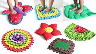 Download 7 CREATIVE DOORMATS IDEAS from OLD SAREE & CLOTHES Video