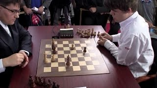 Download Beautiful Tactical Endgame - Magnus Carlsen Crushes Evgeny Tomashevsky | Blitz Chess Tal 2012 Video