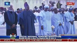 Download 25 Years After, Buhari Honours Late MKO Abiola With Posthumous GCFR Nat'l Award Pt.3 Video