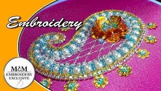 Download Embroidery Beadwork Paisley    Вышивка бисером Пейсли Video