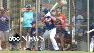 Download Tim Tebow Hits Home Run in First Pro at Bat Video