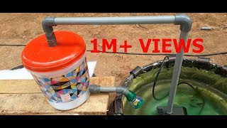 Download How to make fish tank filter with shower   fish pool filter   water pump Video