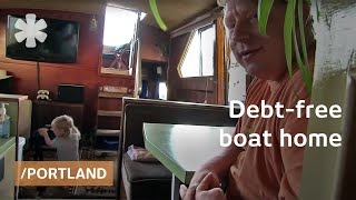 Download Debt-free boat tiny home for family of 3 on Portland island Video