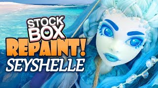 Download STOCK BOX Repaint! Seyshelle Oceanic Monster High Custom OOAK Doll Video