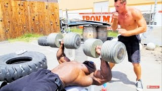 Download Kali Muscle: Chest Workout {200 LB Dumbbells} ft. Psycho Dru Video