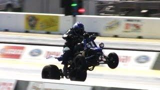 Download 10 Second Drag Quad Wheelies - 10.5 @ 117 mph Video